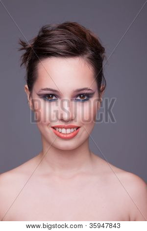 Happy Beautiful Woman, Studio Shot