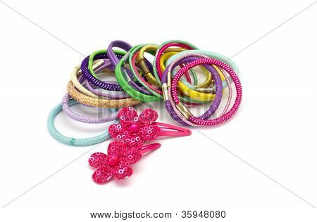 Hair Accessories  Isolated On White Background