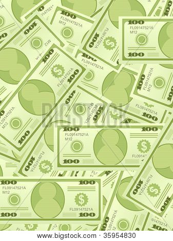Dollar Banknotes Background Vertical