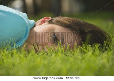 Girl In Grasss