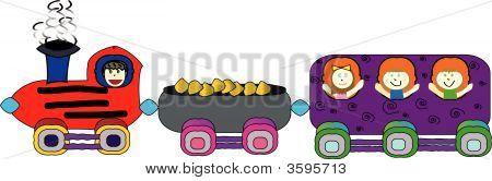Vector Children'S Train Ride