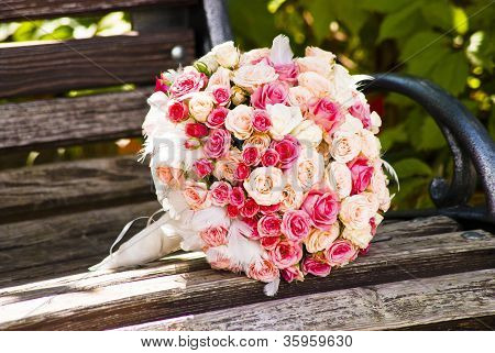 Wedding Bouquet With Roses