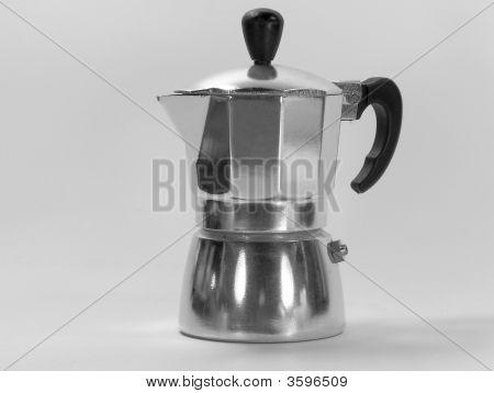 schwarze und weiße italienischen Coffe maker