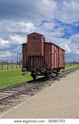 Wagon in Auschwitz