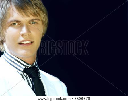 Young Handsome Blond Man