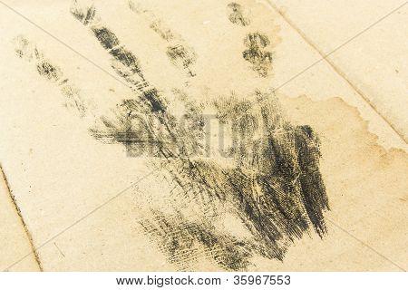 Handprint On Old Paper