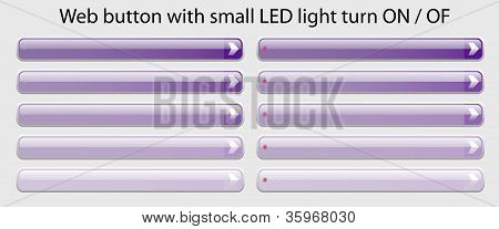 Web Button with small LED light turn ON - OFF ease change spot color