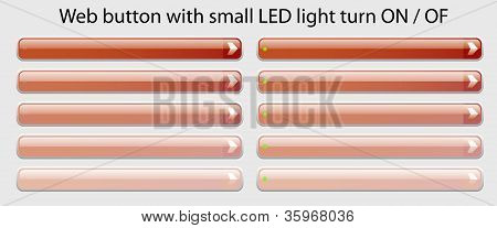 Web Button With Small Led Light Turn On - Of Ease Change Spot Color Red