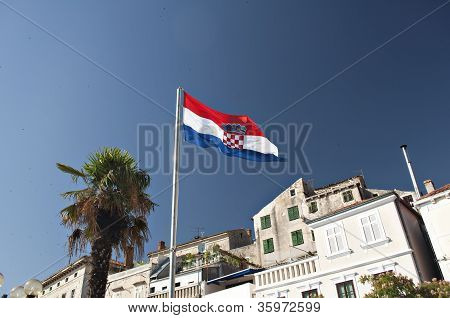 Flag of Croatia in Sibenik