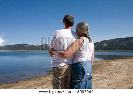 Couple At Lake