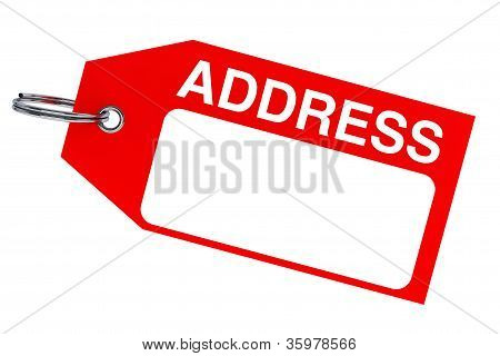 Red Address Tag