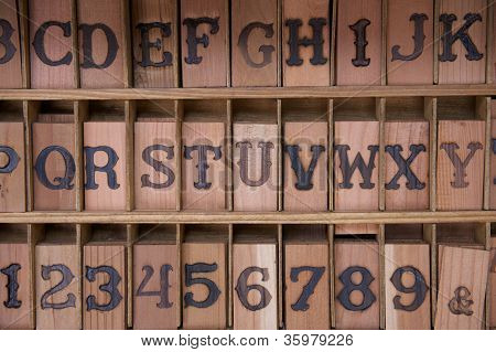 Redwood Letter Blocks With Brands