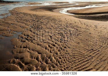 Fechar até a praia de vista fundo de areia