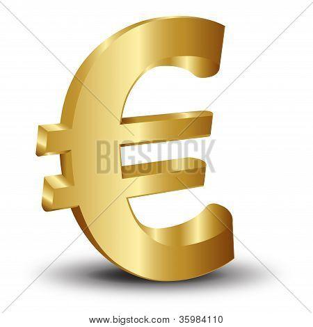 Golden Euro Icons