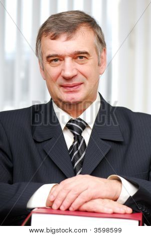 Successful Portrait Of Business Person