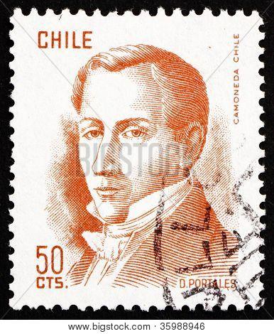 Postage stamp Chile 1975 Diego Portales, Statesman