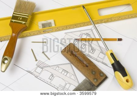 Tools Over House Plan