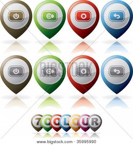 Telefone ícones de Status