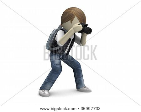 3D Photographer With Camera