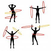 stock photo of hula hoop  - Hula Hoops is original artwork - JPG
