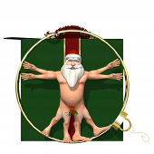 stock photo of humbug  - Santa Vitruvian - JPG
