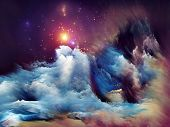 stock photo of hallucinations  - Arrangement of dreamy forms and colors on the subject of dream imagination fantasy and abstract art - JPG