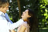 Laughing Couple In Nature