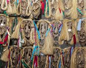 Romanian Wooden Masks