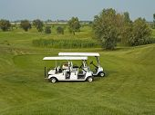 foto of foursome  - Passenger Shuttle Golf Car is compact and manageable - JPG