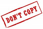 Do not copy stamp