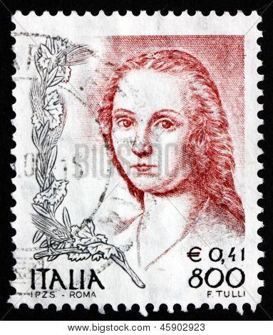 Postage Stamp Italy 1999 Lady With The Unicorn, By Raphael