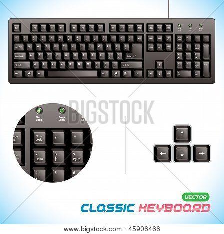 Classic Keyboard Illustration