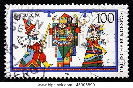 Postage Stamp Germany 1989 Puppets