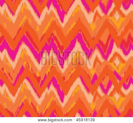 cute vector zig zag ikat seamless background
