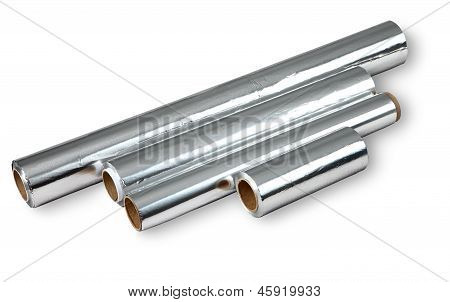 Aluminum Foil For Cooking And Storing Food, Four Rolls.