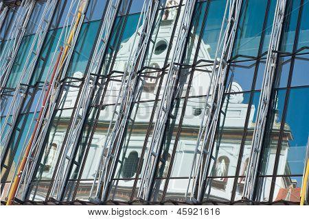Reflection Of Saint Michael's Church
