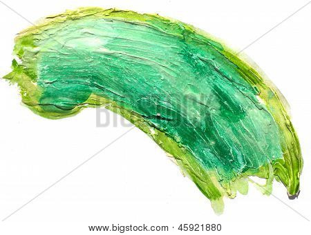 art daub watercolor Green band background abstract paper texture
