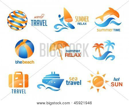 Collection of Travel and Beach Icons