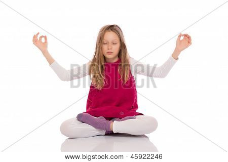 Young Girl Making Yoga