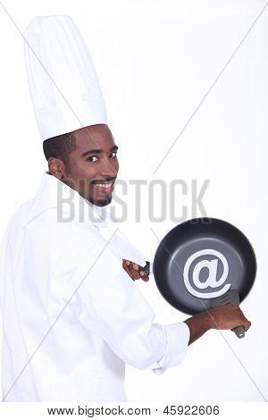 Pan and cook at sign