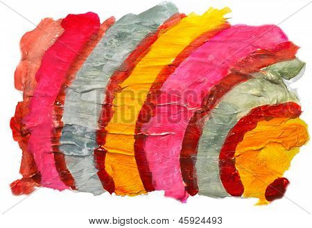 0_watercolor Blue Red Yellow Stripes Background Abstract Paper Art Daub  Texture Isolated Wallpaper.