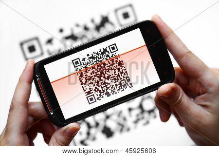Escáner portátil código QR