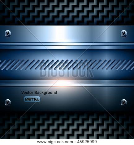 Textura de vector acero elegante fondo metálico.