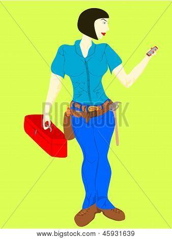 persona de reparación de mujer