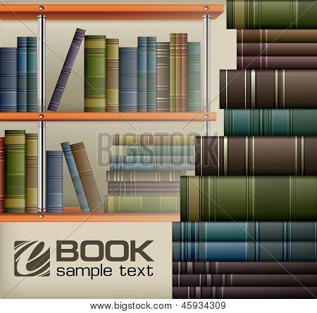 Book Stacks On Shelf