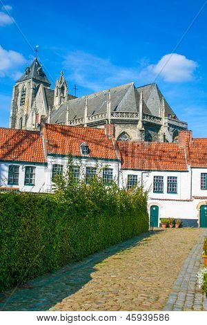 The Beguinage Of Kortrijk In The Flanders