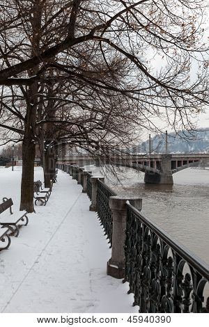 Embankment Of River Vltava