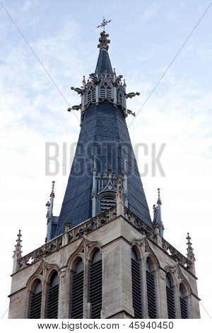 Peak of Church Lyon Rhone Rhone-Alpes France..