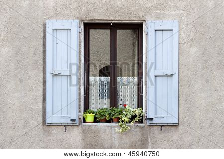 Lovely Window box flower arrangement Sassenage France.