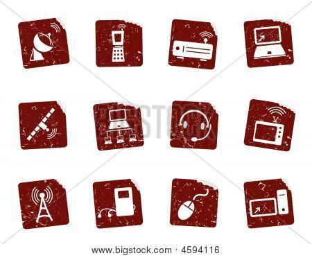 Grunge Media Icon Set